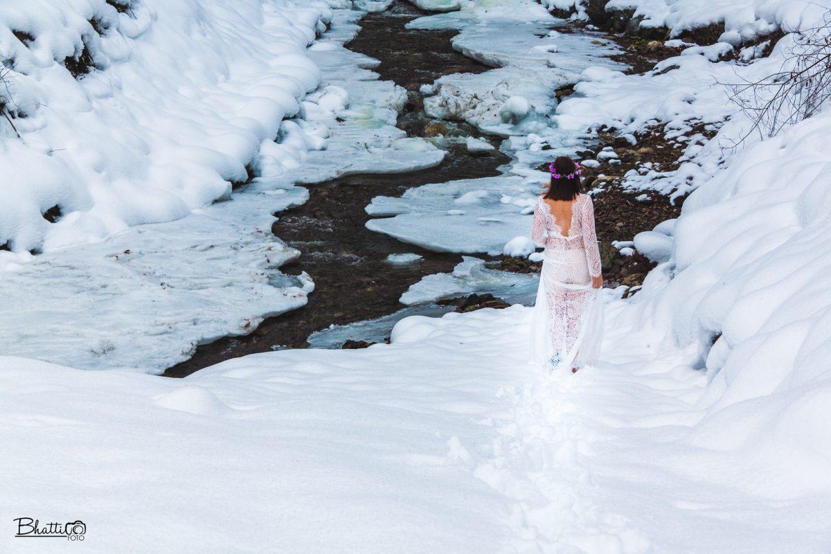 Brud-i-vintersnøen