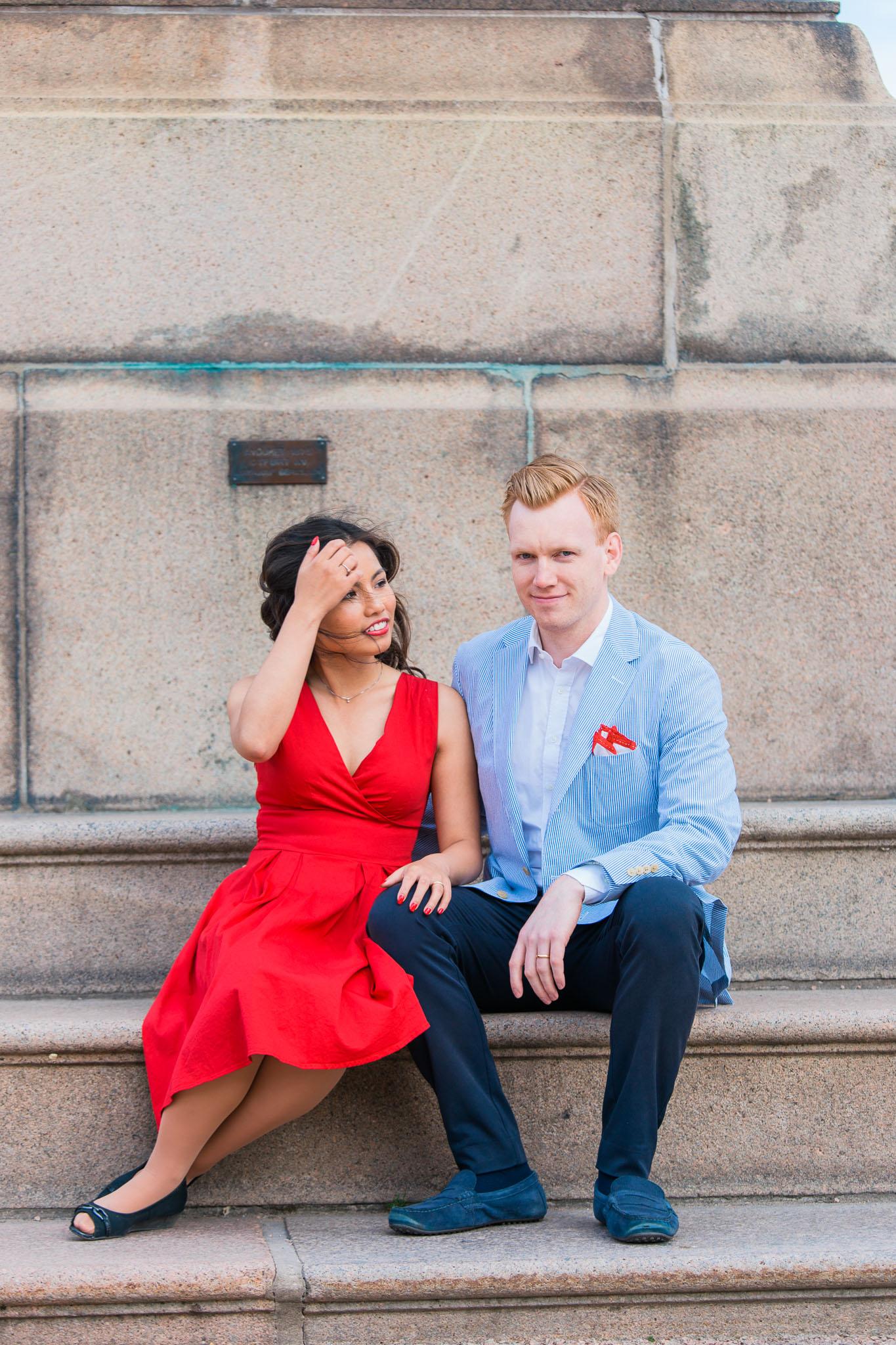 Forlovelsesbilder ved Slottsparken